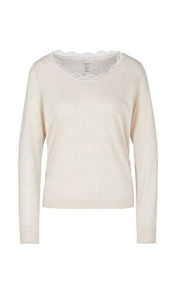Marc Cain Collections Knitwear Marc Cain Collections Sweater with Silk and Cashmere PC 41.08 M50 izzi-of-baslow