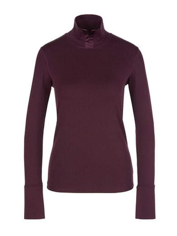 Marc Cain Collections Knitwear Marc Cain Collections Top with Silk Detail 298 PC 48.46 J14 izzi-of-baslow