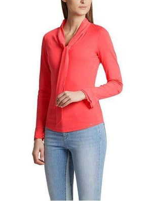 Marc Cain Collections Sale 6 Marc Cain Collections Top With Silk Bow Coral izzi-of-baslow