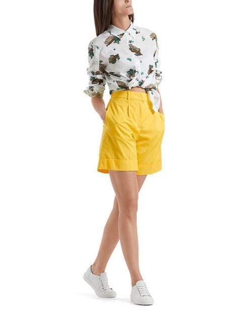 Marc Cain Collections Shorts Marc Cain Collections Cotton Shorts Saffron Yellow NC 83.02 W60 izzi-of-baslow