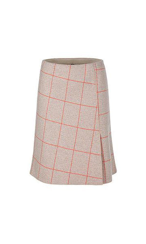 Marc Cain Collections Skirts Marc Cain Collections Checked Skirt in Wool Blend 652 PC 71.50 J39 izzi-of-baslow