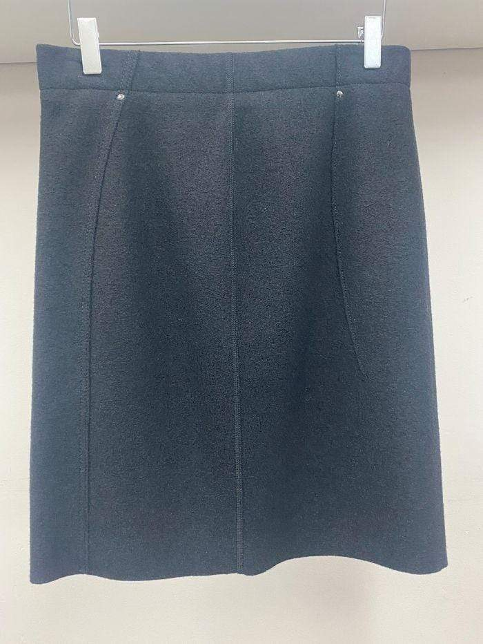 Marc Cain Collections Skirts Marc Cain Collections Wool Skirt Black KC 71.55 J30 900 izzi-of-baslow