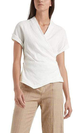 Marc Cain Collections Tops 1 Marc Cain Blouse-style top in linen blend NC 55.21 W47 izzi-of-baslow