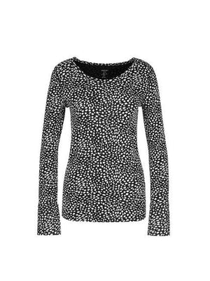 Marc Cain Collections Tops 1 Marc Cain Collections Printed Top Black and White NC 48.18 J79 izzi-of-baslow