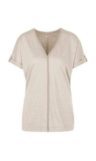 Marc Cain Collections Tops Marc Cain Feminine T-shirt in linen blend NC 48.46 J54 izzi-of-baslow