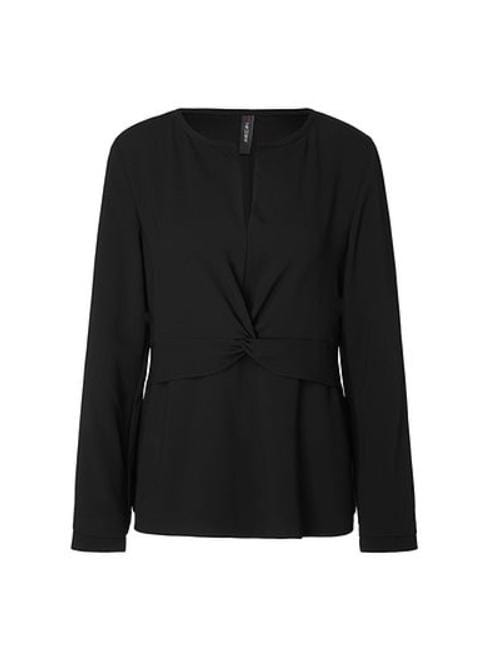 Marc Cain Collections Tops 2 Marc Cain Collections Black Blouse MC 51.11 W01 izzi-of-baslow