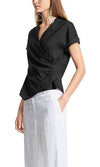 Marc Cain Collections Tops Marc Cain Blouse-style top in linen blend LC 56.03 W47 izzi-of-baslow
