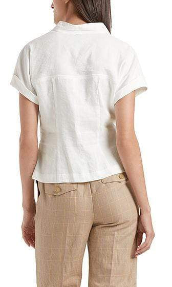 Marc Cain Collections Tops Marc Cain Blouse-style top in linen blend NC 55.21 W47 izzi-of-baslow