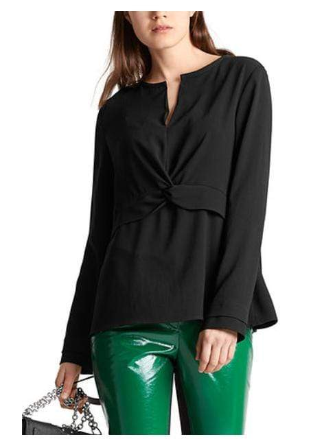 Marc Cain Collections Tops Marc Cain Collections Black Blouse MC 51.11 W01 izzi-of-baslow