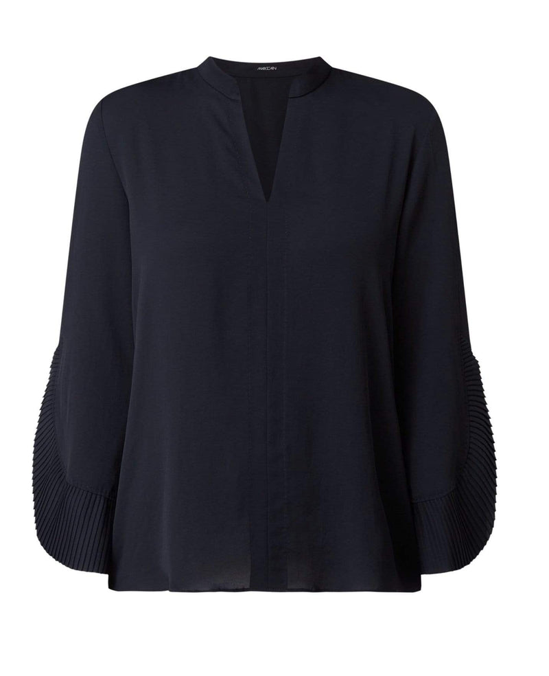 Marc Cain Collections Tops Marc Cain Collections Blouse Style Top with Pleating PC 55.05 W39 izzi-of-baslow