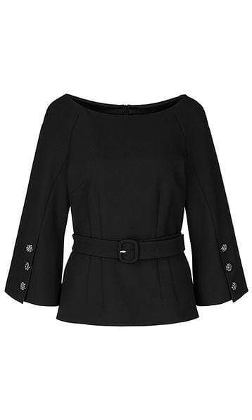 Marc Cain Collections Tops Marc Cain Collections Blouse with Glittering Buttons Black 900 PC 51.25 W71 izzi-of-baslow