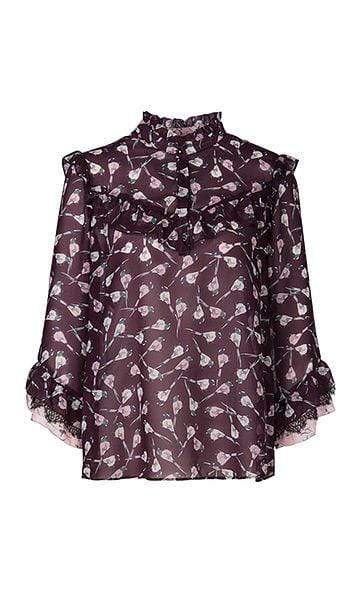 Marc Cain Collections Tops Marc Cain Collections Blouse with Mini Birds 298 PC 51.33 W65 izzi-of-baslow