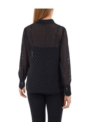 Marc Cain Collections Tops Marc Cain Collections Bow Neck Blouse Midnight Blue NC 51.18 W41 izzi-of-baslow