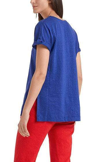 Marc Cain Collections Tops Marc Cain Collections Feminine T-shirt in linen blend NC 48.46 J54 izzi-of-baslow