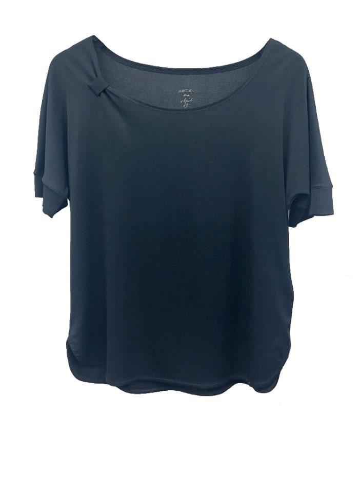 Marc Cain Collections Tops Marc Cain Collections LC 48.08 J14 Black T-shirt izzi-of-baslow
