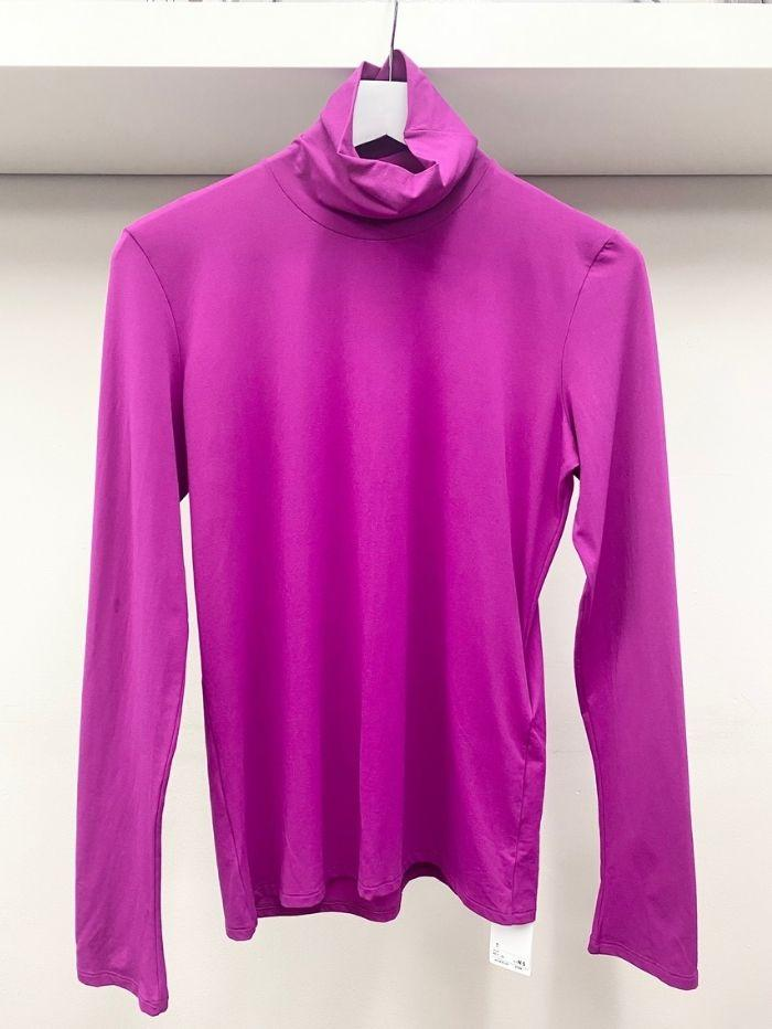 Marc Cain Collections Tops Marc Cain Collections Polo Neck Skin Pink KC 48.54 JO3 izzi-of-baslow