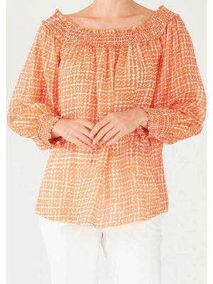 Marc Cain Collections Tops Marc Cain Collections Printed Silk Blouse QC 51.31 W65 484 izzi-of-baslow