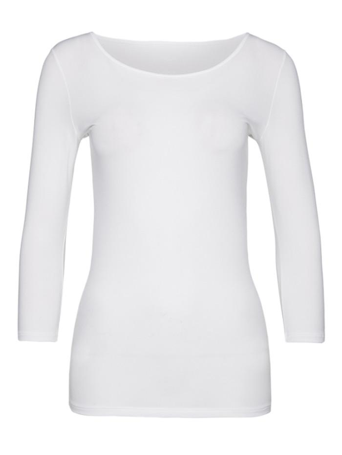 Marc Cain Collections Tops Marc Cain Collections Round Neck White Second Skin Top +E 48.12 JO3 izzi-of-baslow