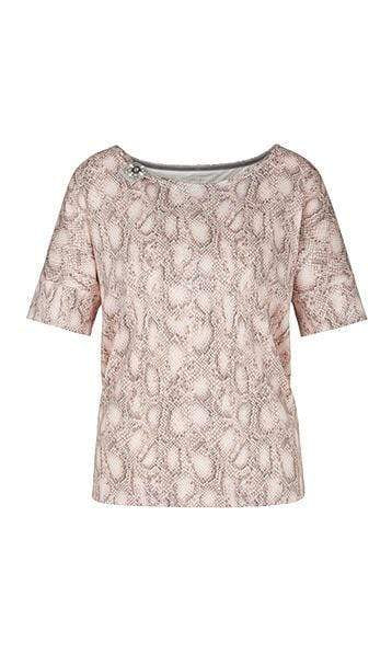 Marc Cain Collections Tops Marc Cain Collections Snakeskin Effect Top PC 48.39 J61 izzi-of-baslow