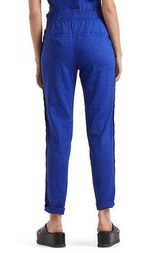 Marc Cain Collections Trousers Marc Cain Collections Linen Blend Trousers Ultramarine NC 81.49 W47 izzi-of-baslow
