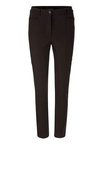 Marc Cain Collections Trousers Marc Cain Collections Stretchy Trousers in Dark Moro 696 PC 81.08 W14 izzi-of-baslow