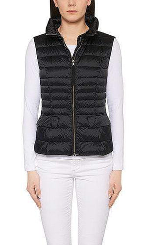 Marc Cain Essentials Coats and Jackets Marc Cain Essentials Quilted Gilet with Down 395 Midnight Blue +E 37.15 W11 izzi-of-baslow