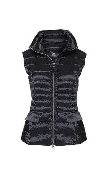 Marc Cain Essentials Coats and Jackets Marc Cain Essentials Quilted Gilet with Down 900 Black +E 37.15 W11 izzi-of-baslow