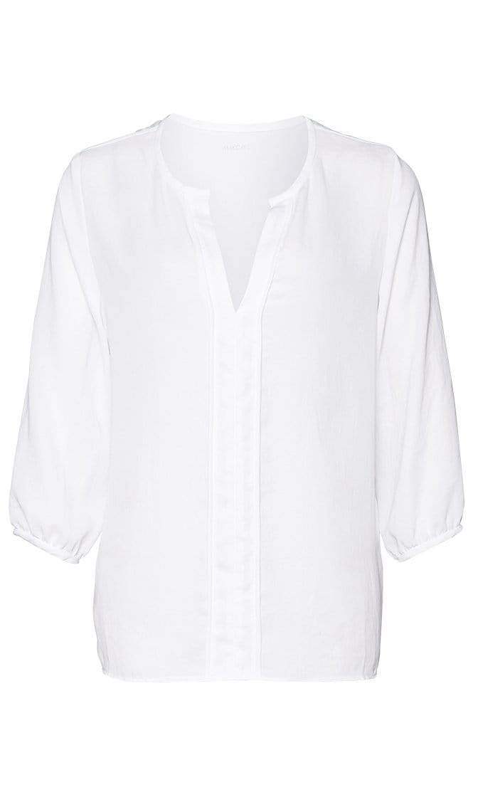 Marc Cain Essentials Tops Marc Cain Essentials Blouse In White +E51 32 W38 izzi-of-baslow