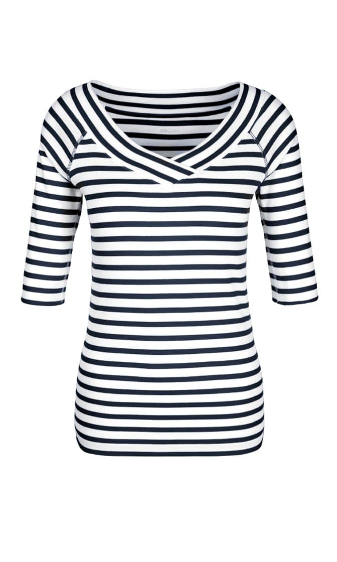 Marc Cain Essentials Tops Marc Cain Essentials V Necked T Shirt +E48 88 J91 izzi-of-baslow