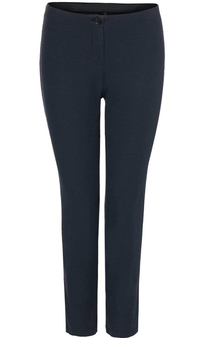 Marc Cain Essentials Trousers Marc Cain Essentials Cropped Trouser in  Navy +E81 37 W33 izzi-of-baslow