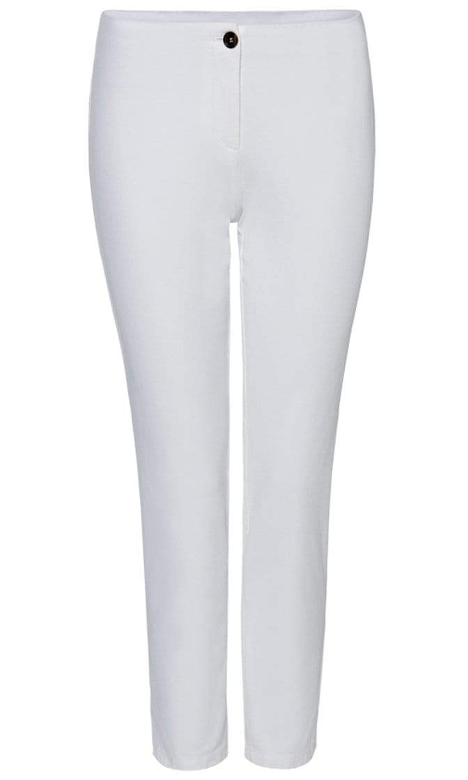 Marc Cain Essentials Trousers Marc Cain Essentials Cropped Trouser in  White +E81 37 W33 izzi-of-baslow