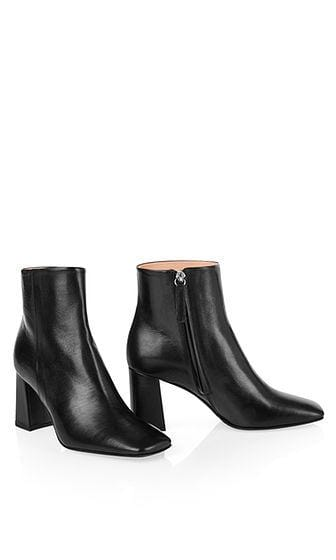 Marc Cain Shoes Marc Cain Black Leather Ankle Boots in Square Shape PB SB.09 L22 G izzi-of-baslow