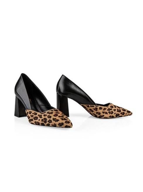 Marc Cain Shoes Marc Cain Block Heels With Leopard Print MB SD.50 L29 izzi-of-baslow