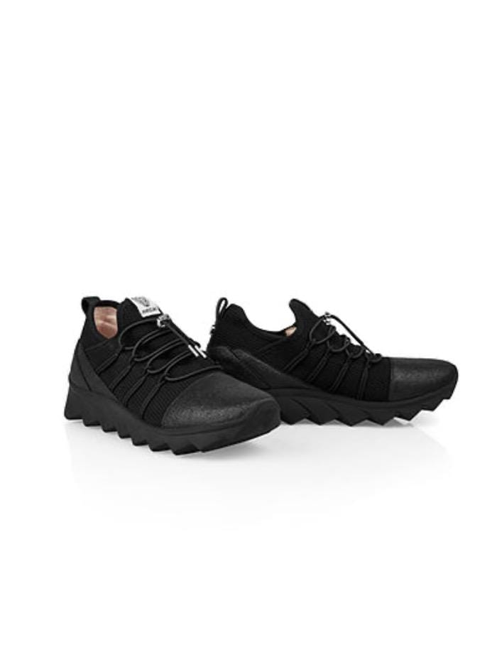 Marc Cain Shoes Marc Cain Knitted Trainers in Black with Sparkly Detailing QB SH.03 M01 izzi-of-baslow