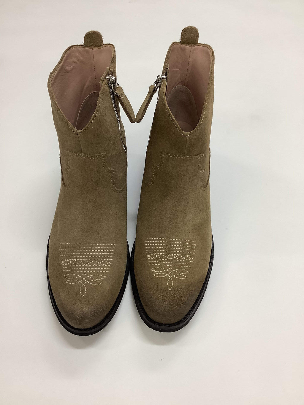 Marc Cain Shoes Marc Cain Short Beige Cowboy Style Boot MB SB.11 L37 izzi-of-baslow