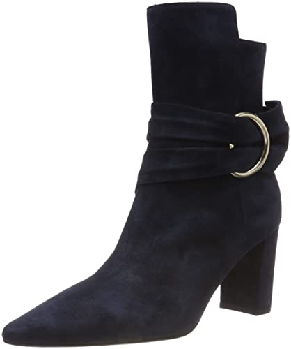Marc Cain Shoes Marc Cain Short Navy Suede Ankle Boot KB SB.39 L18 izzi-of-baslow