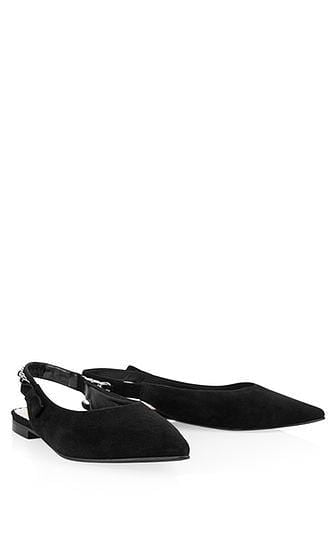 Marc Cain Shoes Marc Cain Slingback ballerina pumps black NB SF.14 L15 izzi-of-baslow