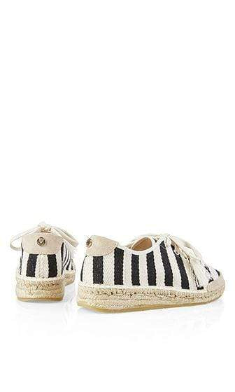 Marc Cain Shoes Marc Cain Striped espadrille sneakers Black NB SI.02 W09 izzi-of-baslow