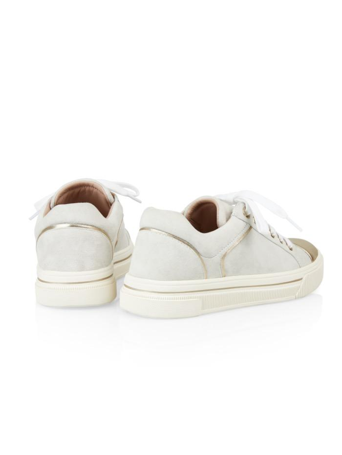 Marc Cain Shoes Marc Cain Trainers Off White With Gold QB SH.10 L07 110 izzi-of-baslow