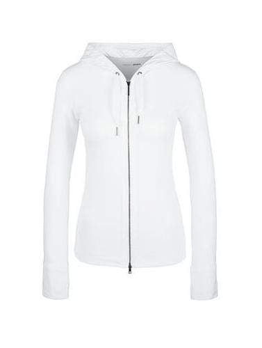 Marc Cain Sports Coats and Jackets 1 Marc Cain Sports Slim Fit Hooded Jacket White JS 31.52 J55 izzi-of-baslow