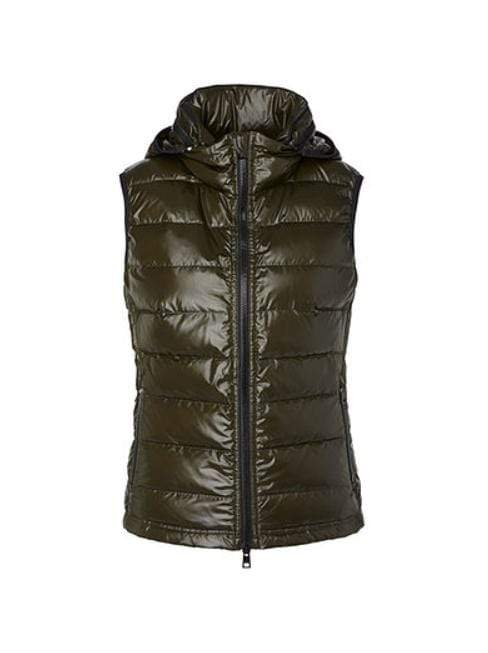Marc Cain Sports Coats and Jackets 2 Marc Cain Sports Shimmering Gilet Moor Green MS 37.01 W01 izzi-of-baslow