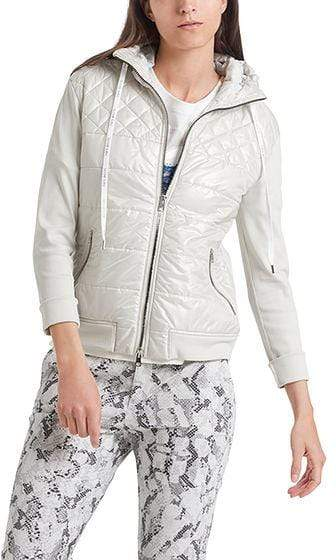 Marc Cain Sports Coats and Jackets Marc Cain Sports Hooded Jacket Lighted Grey 151 PS 31.44 J55 izzi-of-baslow
