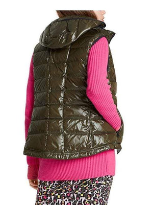 Marc Cain Sports Coats and Jackets Marc Cain Sports Shimmering Gilet Moor Green MS 37.01 W01 izzi-of-baslow