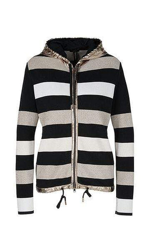Marc Cain Sports Coats and Jackets Marc Cain Sports Striped Knitted Jacket PS 31.08 M01 izzi-of-baslow