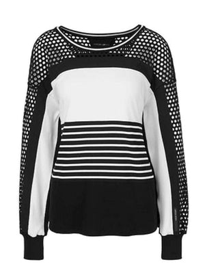 Marc Cain Sports Jumper Marc Cain Sports Black and White Top QS 48.46 J79 910 Y izzi-of-baslow