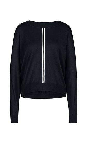 Marc Cain Sports Knitwear Marc Cain Sports Sweater with cashmere in Midnight Blue NS 41.07 M80 izzi-of-baslow