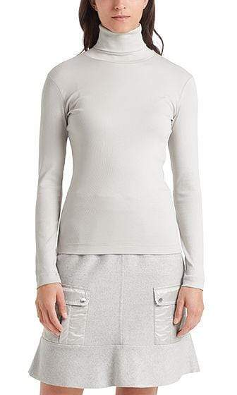 Marc Cain Sports Knitwear Marc Cain Sports Cotton Turtleneck Shirt Lighted Grey 151 PS 48.22 J50 izzi-of-baslow