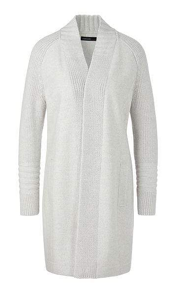 Marc Cain Sports Knitwear Marc Cain Sports Knitted Cardigan Silver Grey 810 PS 31.41 J30 izzi-of-baslow