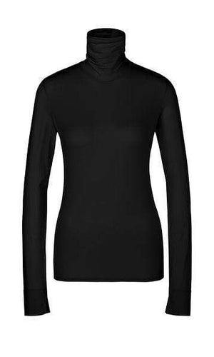 Marc Cain Sports Knitwear Marc Cain Sports Stretchy Roll Neck Top Black PS 48.14 J83 izzi-of-baslow
