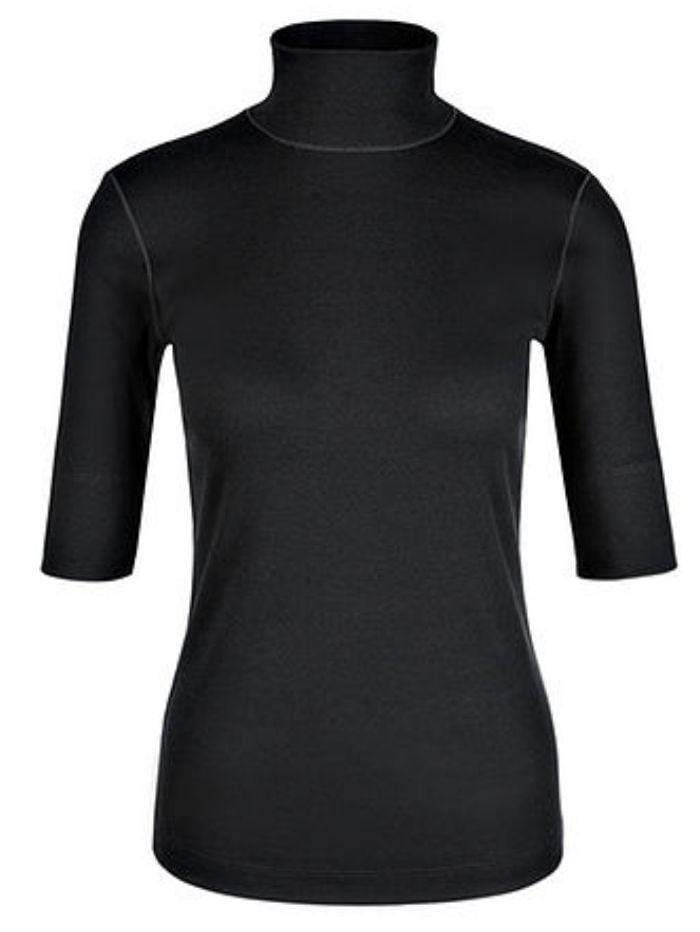 Marc Cain Sports Tops Marc Cain Basic Turtle-neck Top In Ribbed Jersey Black +E 48.04 J50 izzi-of-baslow